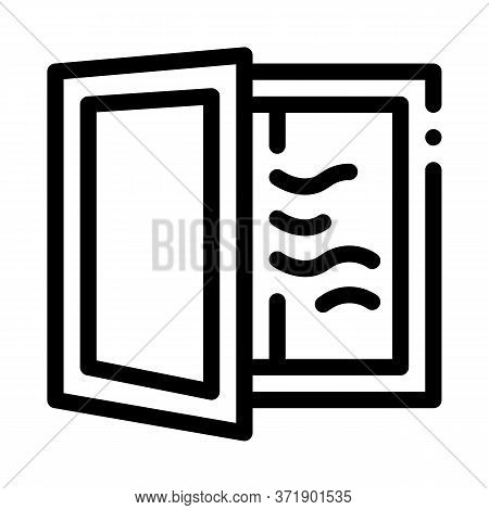 Draft In Window Icon Vector. Draft In Window Sign. Isolated Contour Symbol Illustration
