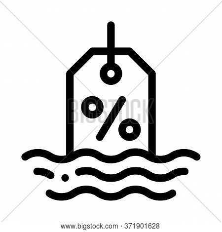 Floating Interest Icon Vector. Floating Interest Sign. Isolated Contour Symbol Illustration