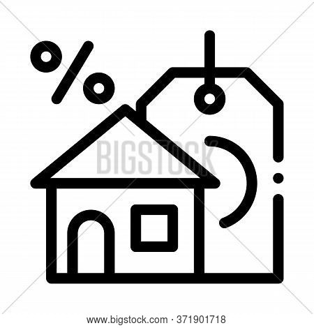 Interest Home Purchase Icon Vector. Interest Home Purchase Sign. Isolated Contour Symbol Illustratio