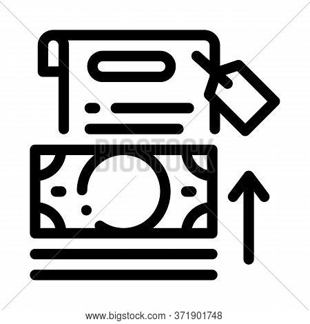 Transfer Money To Paper Icon Vector. Transfer Money To Paper Sign. Isolated Contour Symbol Illustrat