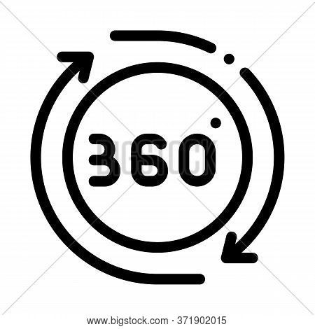 360 Degree View Icon Vector. 360 Degree View Sign. Isolated Contour Symbol Illustration