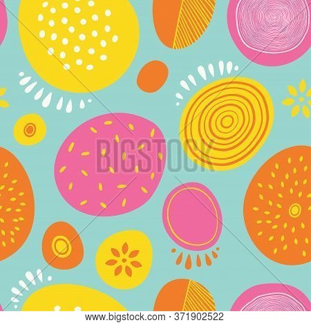 Seamless Abstract Vector Pattern With Circles. For Cards, Invitations, Albums, Backgrounds And Scrap