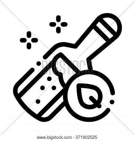 Bottle With Organic Elixir Icon Vector. Bottle With Organic Elixir Sign. Isolated Contour Symbol Ill