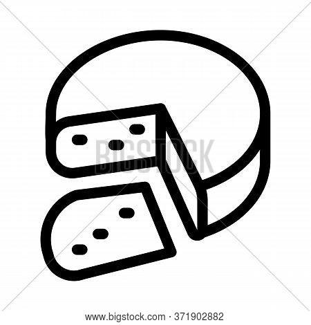 Mozzarella Cheese Head Icon Vector. Mozzarella Cheese Head Sign. Isolated Contour Symbol Illustratio