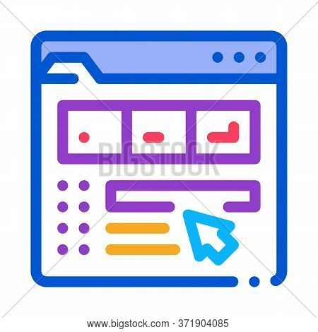 Maker Information Folder Icon Vector. Maker Information Folder Sign. Color Symbol Illustration