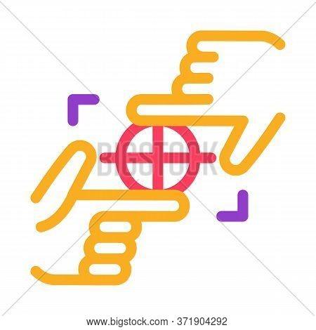 Target Focusing Icon Vector. Target Focusing Sign. Color Symbol Illustration