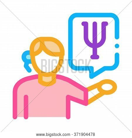 Representative Of Field Of Psychology Icon Vector. Representative Of Field Of Psychology Sign. Color