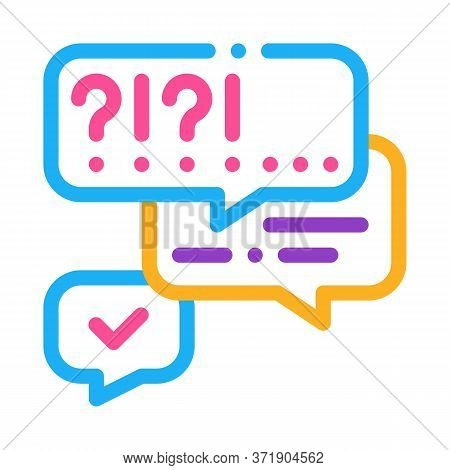 Many Questions And Answers Icon Vector. Many Questions And Answers Sign. Color Symbol Illustration