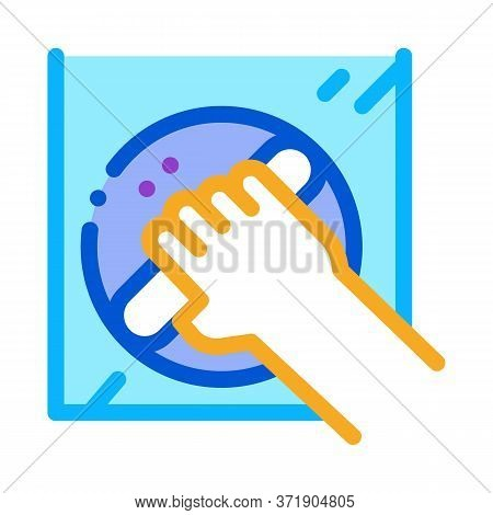 Window Control Handle Icon Vector. Window Control Handle Sign. Color Symbol Illustration