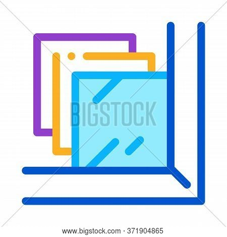 Laminated Glass Window Icon Vector. Laminated Glass Window Sign. Color Symbol Illustration