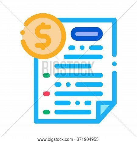 Monetary Agreement Icon Vector. Monetary Agreement Sign. Color Symbol Illustration