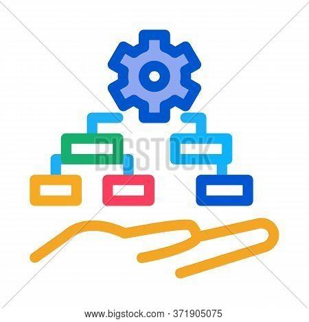Settings Algorithm Icon Vector. Settings Algorithm Sign. Color Symbol Illustration