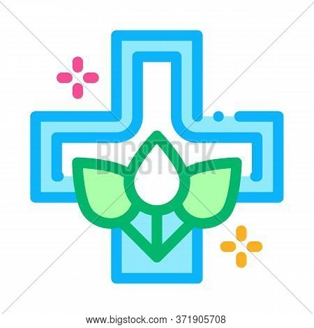 Folk Medicine Icon Vector. Folk Medicine Sign. Color Symbol Illustration