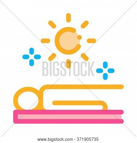 Application Sun Bath Icon Vector. Application Sun Bath Sign. Color Symbol Illustration