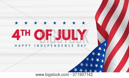 Independence Day 4 Th July Poster. Usa Independence Day Celebration. American National Holiday. Invi