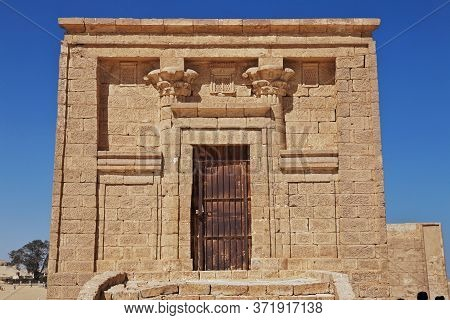 The Ruins Of The Temple In The Desert Close El Minya, Egypt