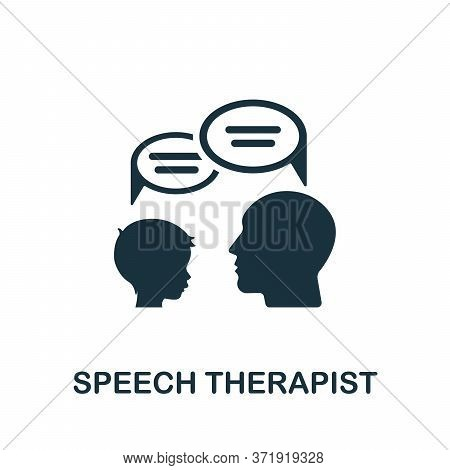 Speech Therapist Icon. Simple Element From Child Development Collection. Creative Speech Therapist I