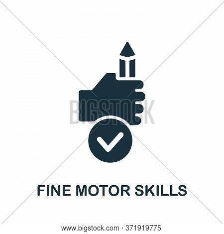 Fine Motor Skills Icon. Simple Element From Child Development Collection. Creative Fine Motor Skills