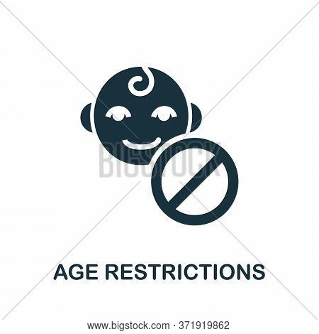 Age Restrictions Icon. Simple Element From Child Development Collection. Creative Age Restrictions I