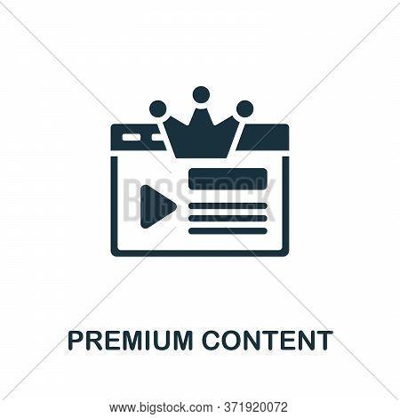 Premium Content Icon. Simple Element From Content Marketing Collection. Creative Premium Content Ico