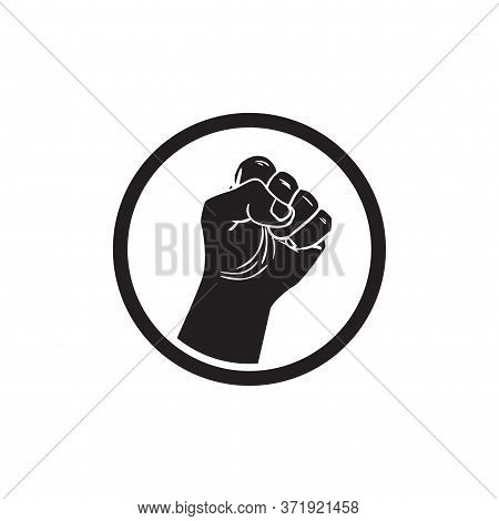 Black Lives Matter Strong Fist Vector Illustration. Stop Racism. I Can T Breathe. Stop Shooting. Don