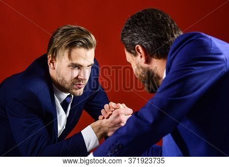 Confrontation Of Business Leaders. Business Rivalry Concept