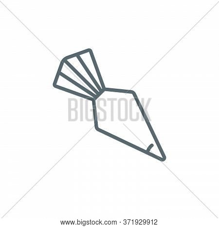 Icing Bag With Nozzle Vector Icon Symbol Isolated On White Background
