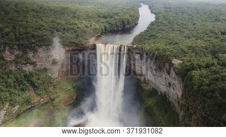 Kaieteur Falls, Guyana South America. Tallest Waterfall In The World