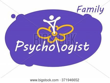 Logo For Family Or Child Psychologist. A Man Opens Up Like A Flower.
