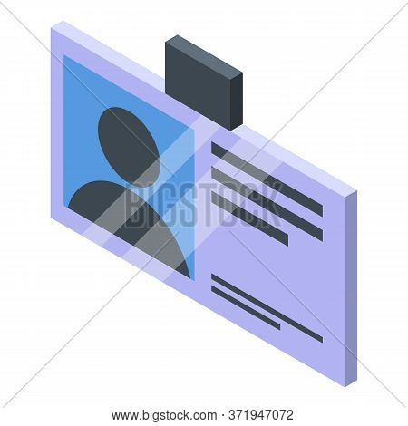 Personal Guard Id Card Icon. Isometric Of Personal Guard Id Card Vector Icon For Web Design Isolated