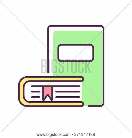 Bookstore Rgb Color Icon. Educational Publication. Bookshop Products. Literature Reading. Books Onli