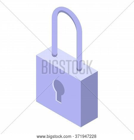 Security Padlock Icon. Isometric Of Security Padlock Vector Icon For Web Design Isolated On White Ba