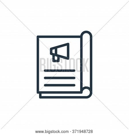 magazine icon isolated on white background from  collection. magazine icon trendy and modern magazin
