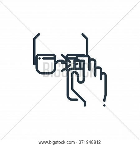 eye glasses icon isolated on white background from  collection. eye glasses icon trendy and modern e