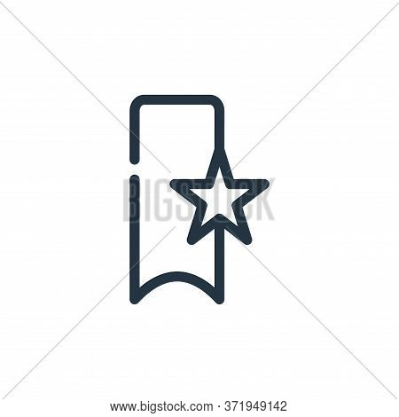 bookmark icon isolated on white background from  collection. bookmark icon trendy and modern bookmar