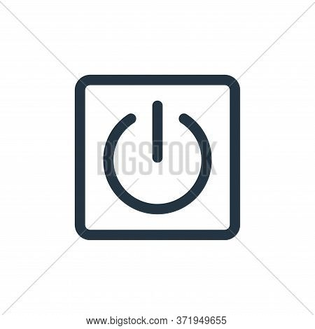 power button icon isolated on white background from  collection. power button icon trendy and modern