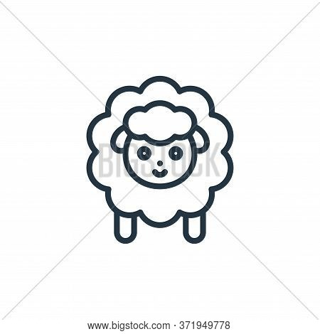 Sheep Vector Icon Isolated On White Background.