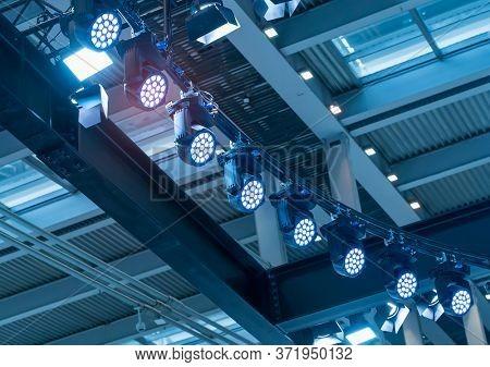 LED Light on mall roof.