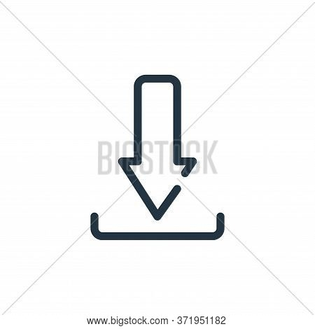 download icon isolated on white background from  collection. download icon trendy and modern downloa
