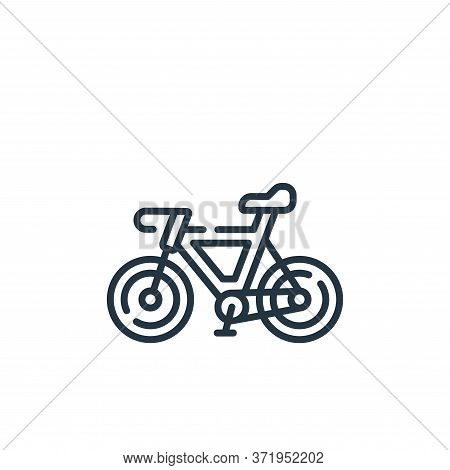 bicycle icon isolated on white background from  collection. bicycle icon trendy and modern bicycle s
