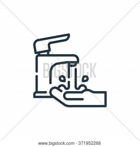 faucet icon isolated on white background from  collection. faucet icon trendy and modern faucet symb