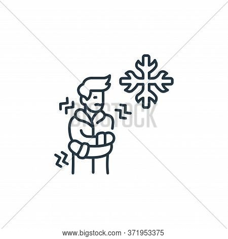cold icon isolated on white background from  collection. cold icon trendy and modern cold symbol for