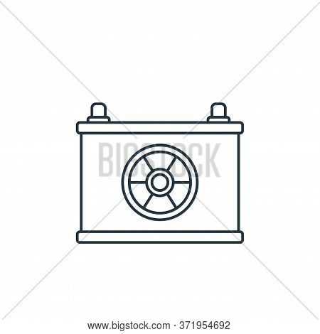 battery icon isolated on white background from  collection. battery icon trendy and modern battery s