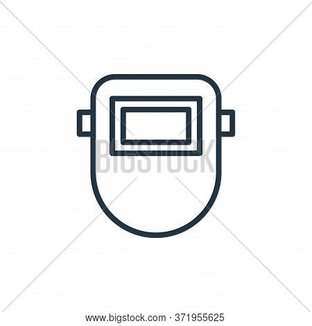 welding mask icon isolated on white background from  collection. welding mask icon trendy and modern