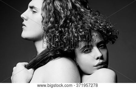 Tender Picture Of Young People. Family Couple Of Man And Sexy Girl. We Are Better When We Together.