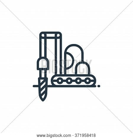 construction drill icon isolated on white background from  collection. construction drill icon trend