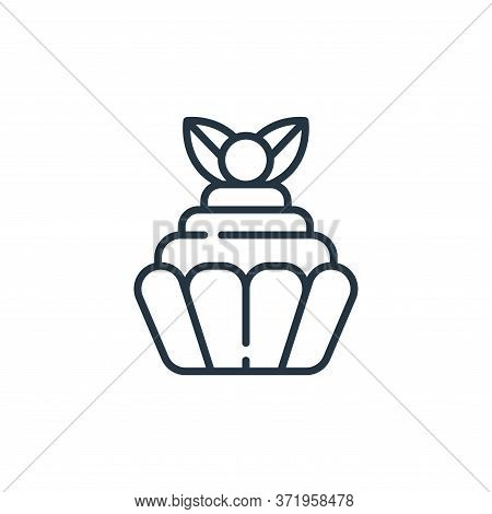 cupcake icon isolated on white background from  collection. cupcake icon trendy and modern cupcake s
