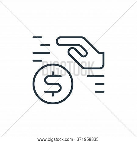 saving icon isolated on white background from  collection. saving icon trendy and modern saving symb