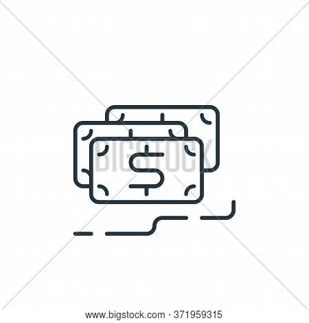 Revenues Vector Icon Isolated On White Background.