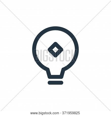 bulb icon isolated on white background from  collection. bulb icon trendy and modern bulb symbol for